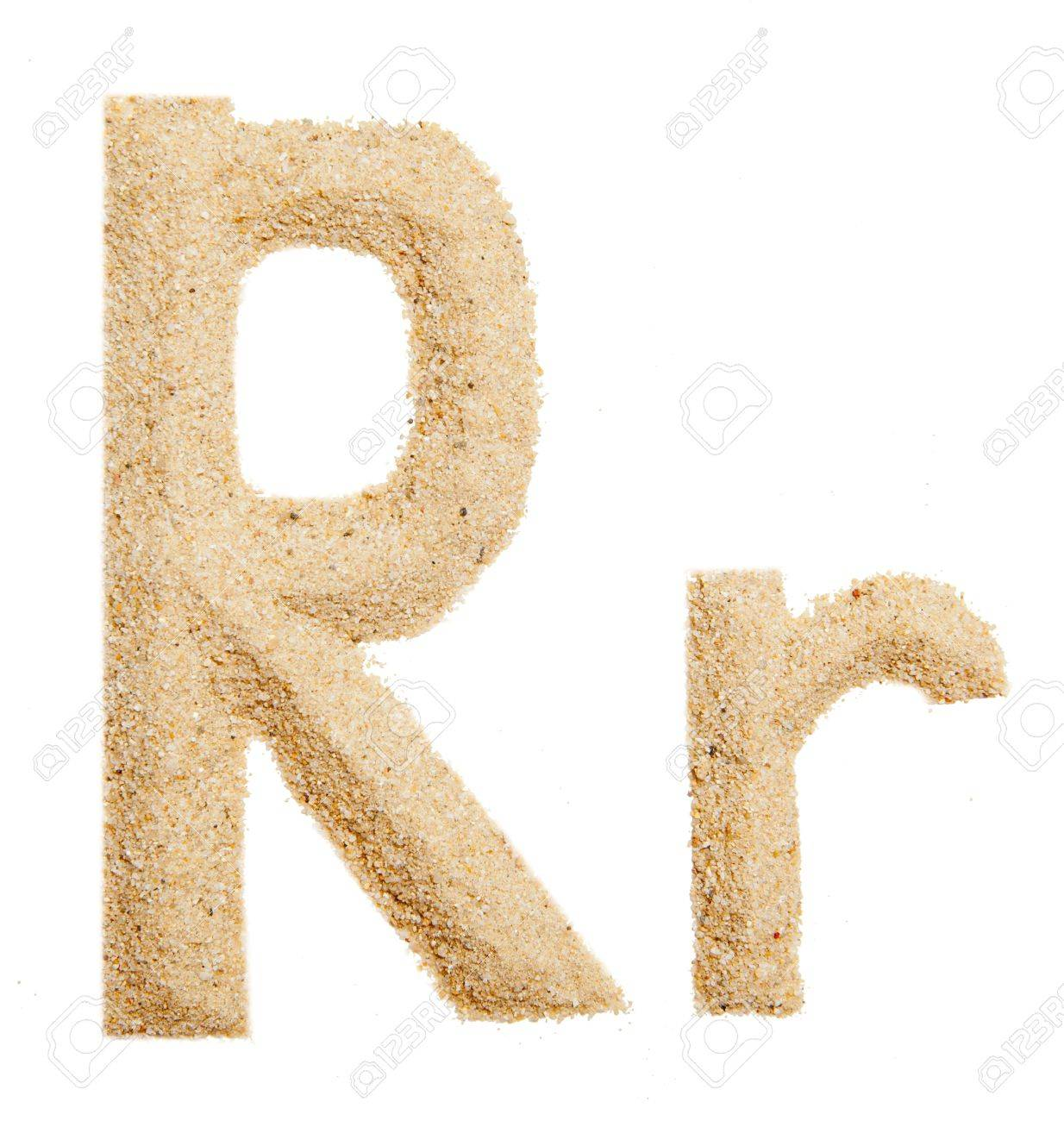 sand alphabet isolated Stock Photo - 11043996