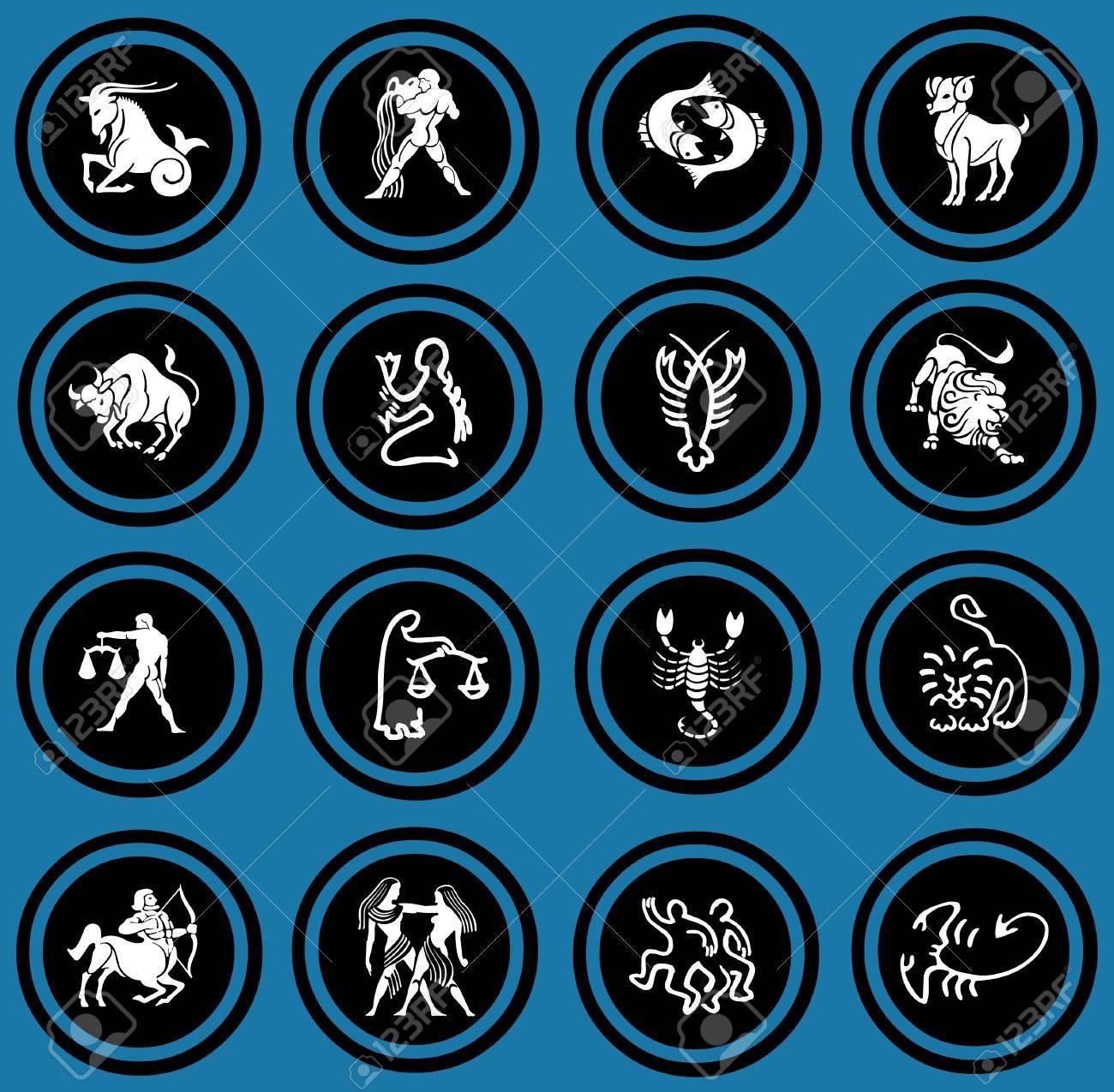 zodiac icons Stock Photo - 12836380