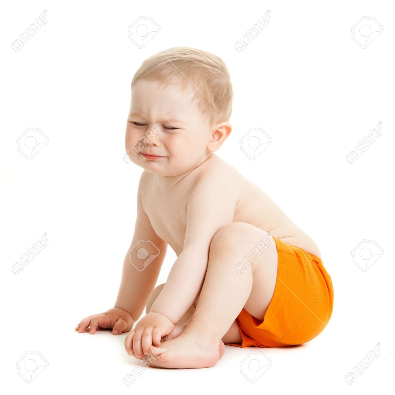 crying baby boy isolated. Stock Photo - 20019627