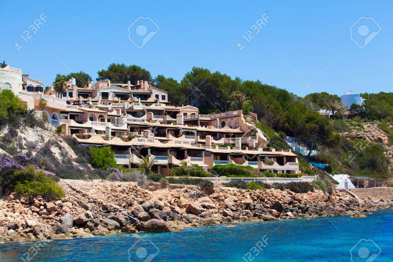 Beautiful Spanish Houses Modern Resort Stock Photo Picture And