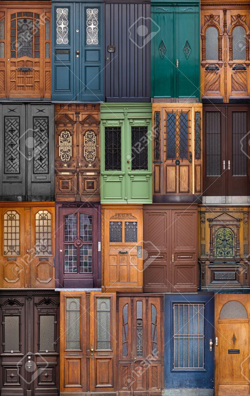 diferentes puertas europeas entrada principal un conjunto de puertas de madera de colores foto