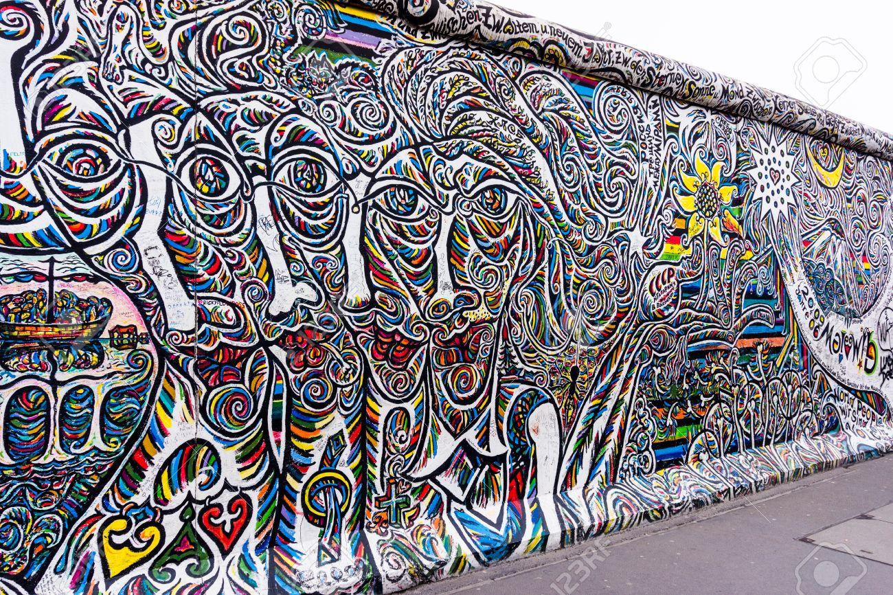 Grafiti wall berlin - Berlin Germany March 20 Berlin Wall Graffiti Seen On March 22 2015