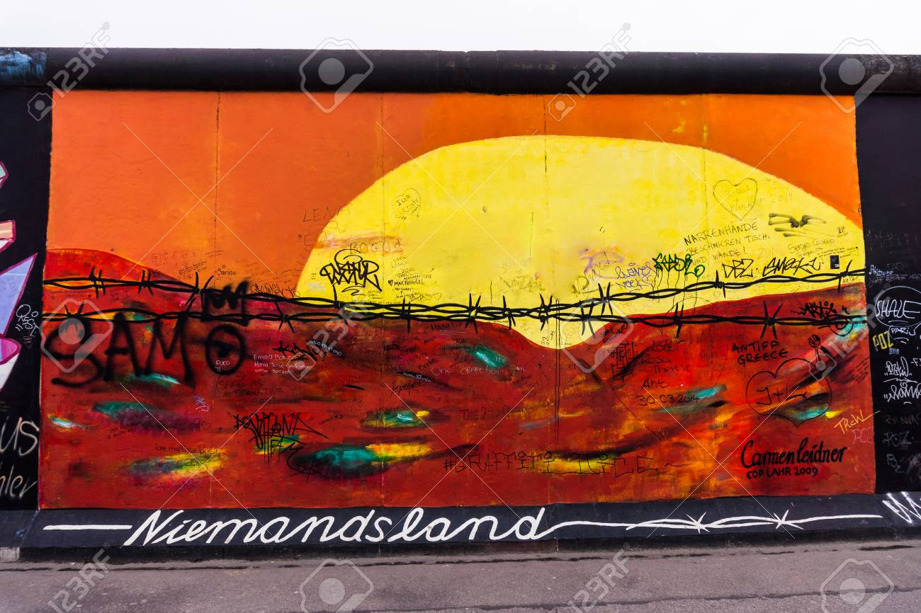 BERLIN, GERMANY - MARCH 20: Berlin Wall Graffiti Seen On March ...