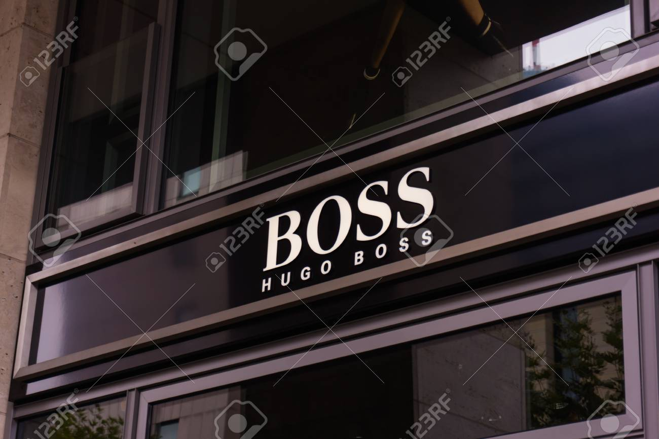 874daca58 FRANKFURT, GERMANY - OKTOBER 24, 2015: Hugo Boss shop in Frankfurt, Germany