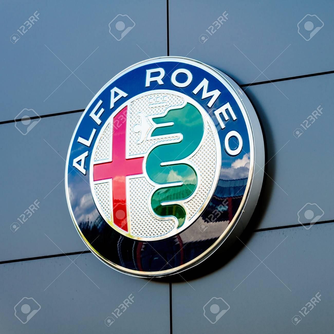Germany Moenchengladbach April 16 2017 Logotype Of Alfa Romeo Logo Corporation