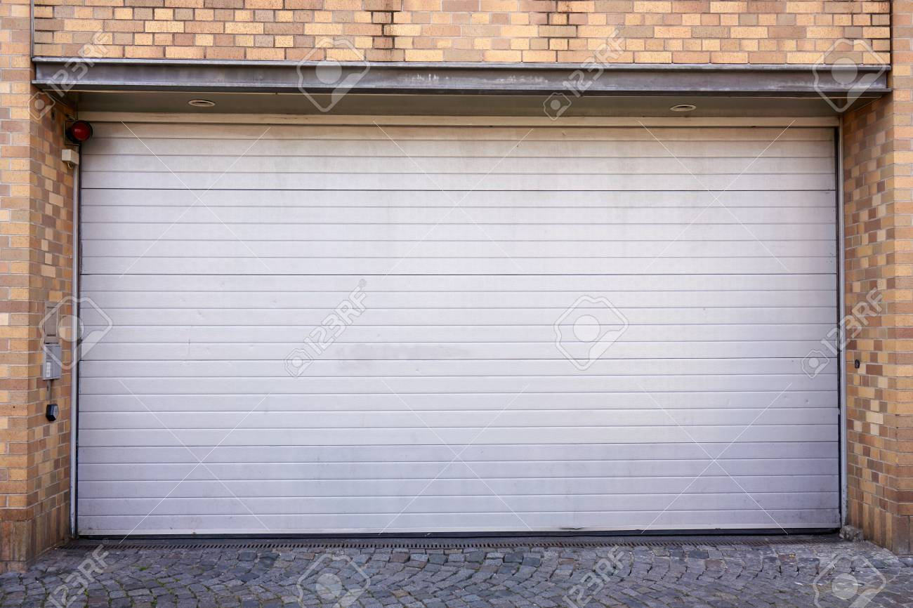 Garage Door Roller Shutter Garage Door Stock Photo Picture And