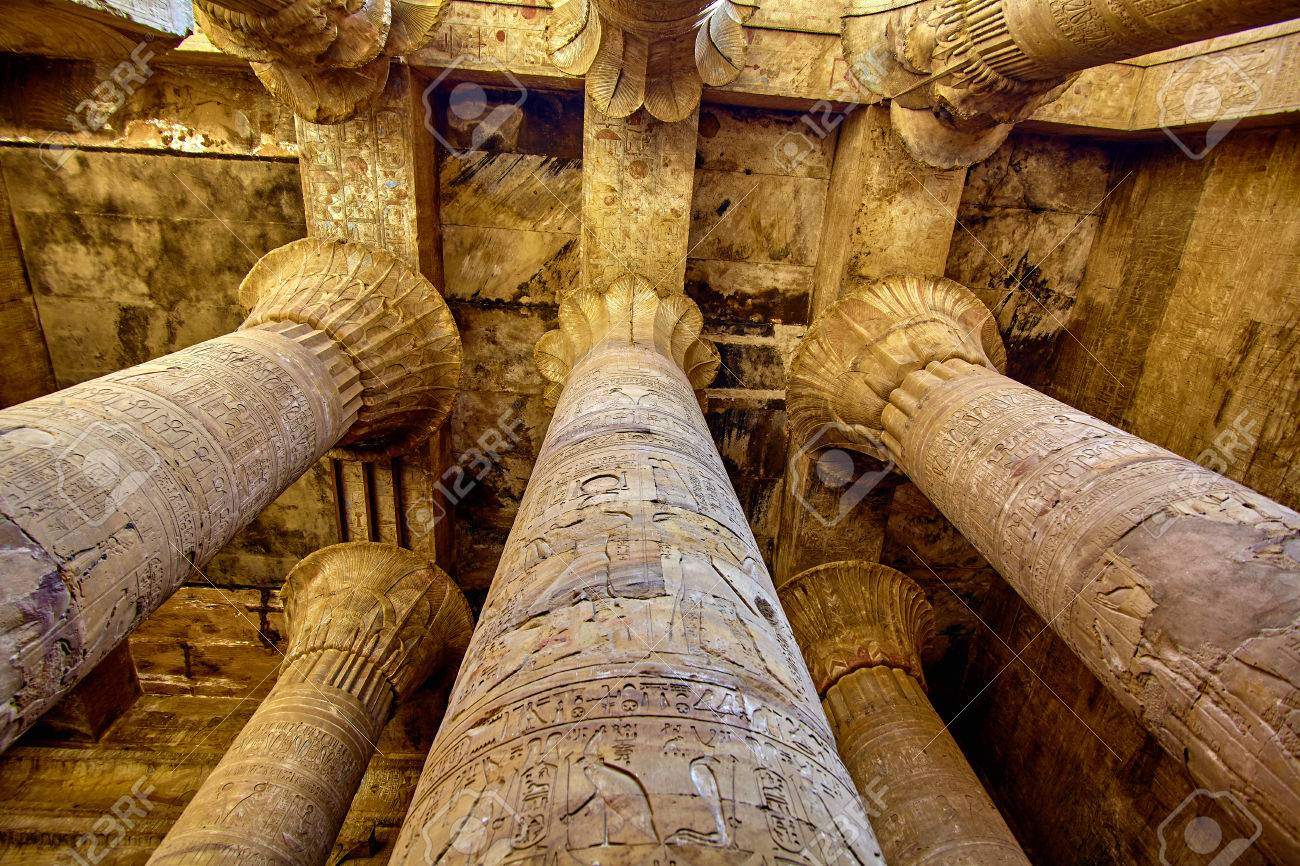 ancient egyptian architecture ruins olumns of the temple of stock