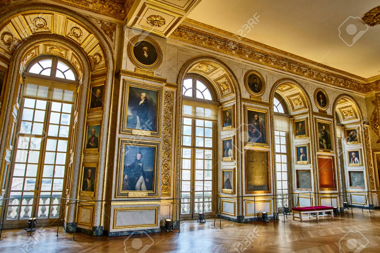 VERSAILLES, FRANCE - FEBRUARY 14, 2018: Interior Of Chateau De ...