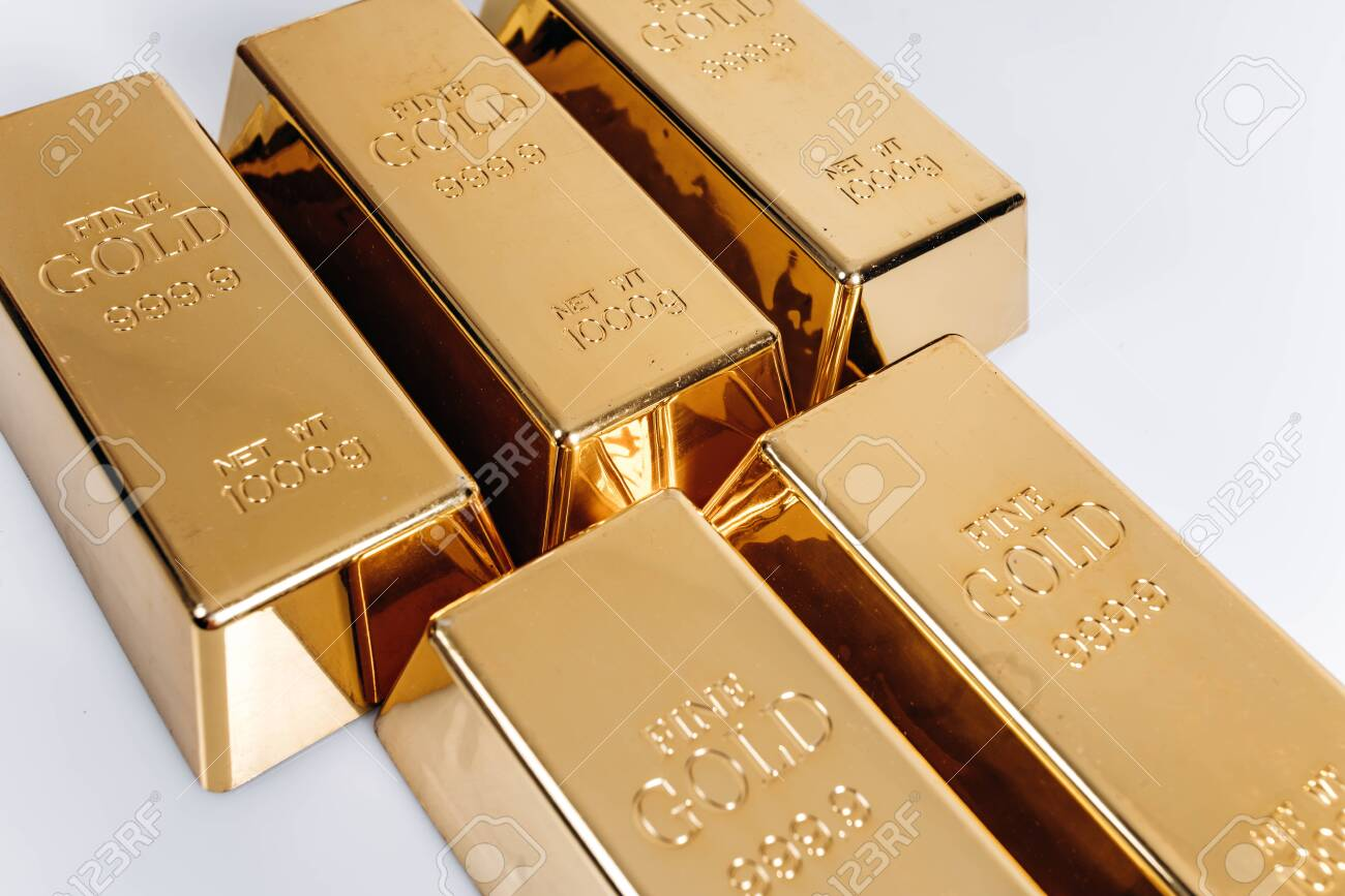 Gold Bars Of 1 Kg Or 1000 Grams Gold Bars Are On The Table Stock Photo Picture And Royalty Free Image Image 135209233