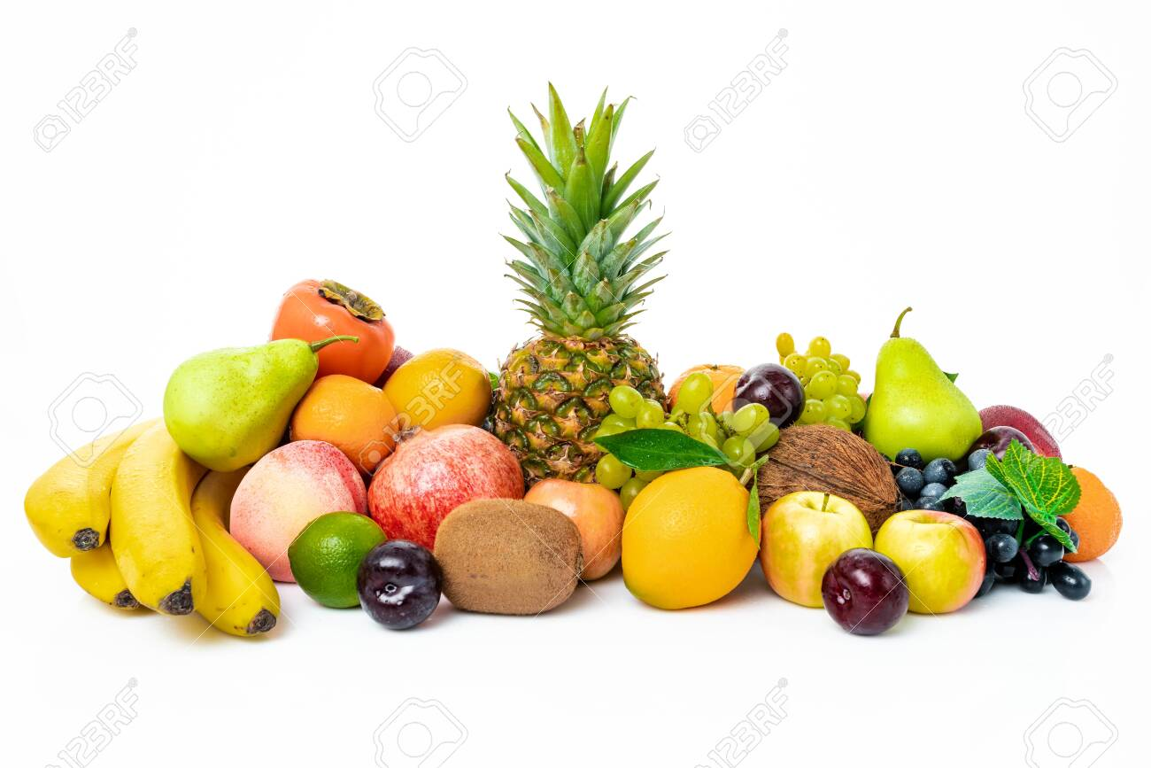 tropical fruit isolated on a white background - 137184356