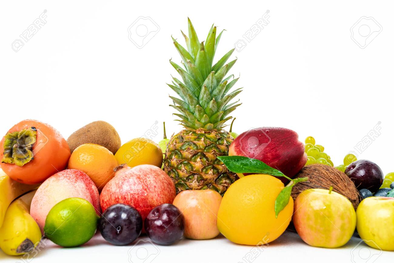 tropical fruit isolated on a white background - 151105151