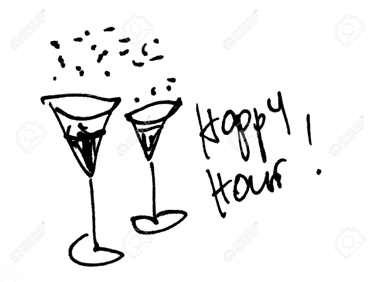 Image result for happy hour clipart black and white