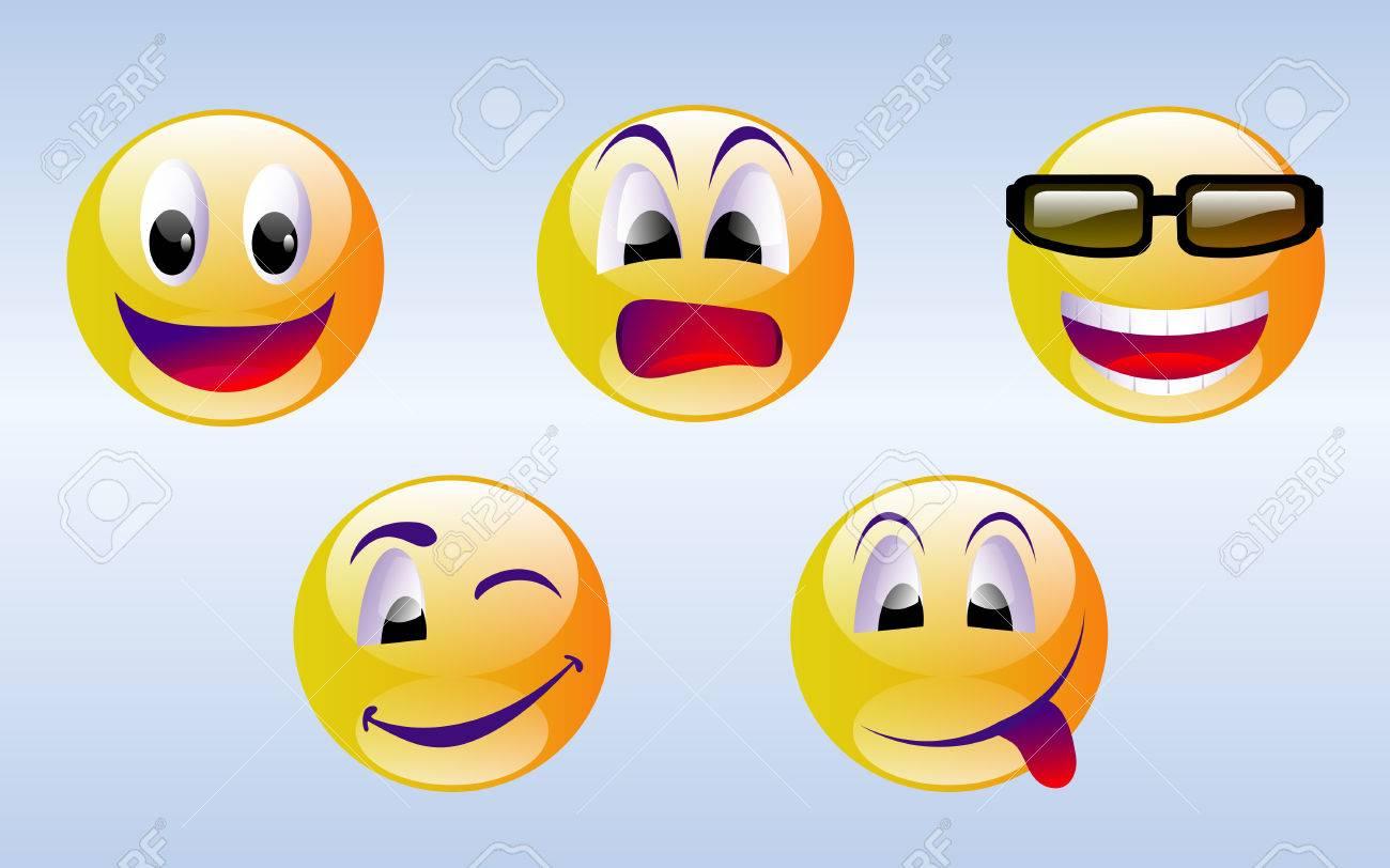 Smiley Face Emoticons Stock Vector - 7161744