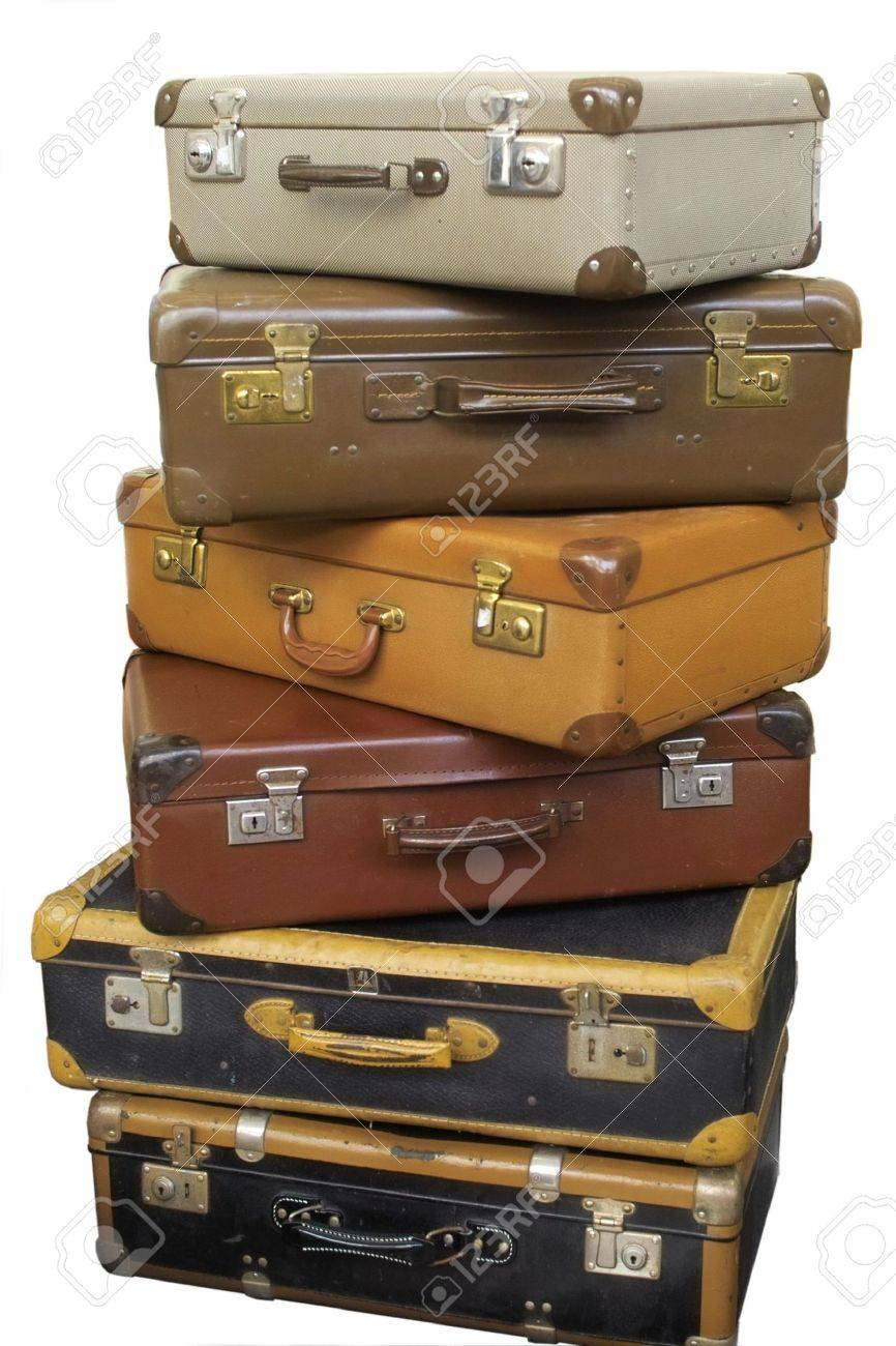 Old Suitcases Pile Of Old Suitcases Stock Photo Picture And Royalty Free Image