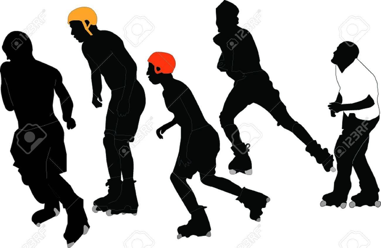 roller skaters - vector Stock Vector - 21700403