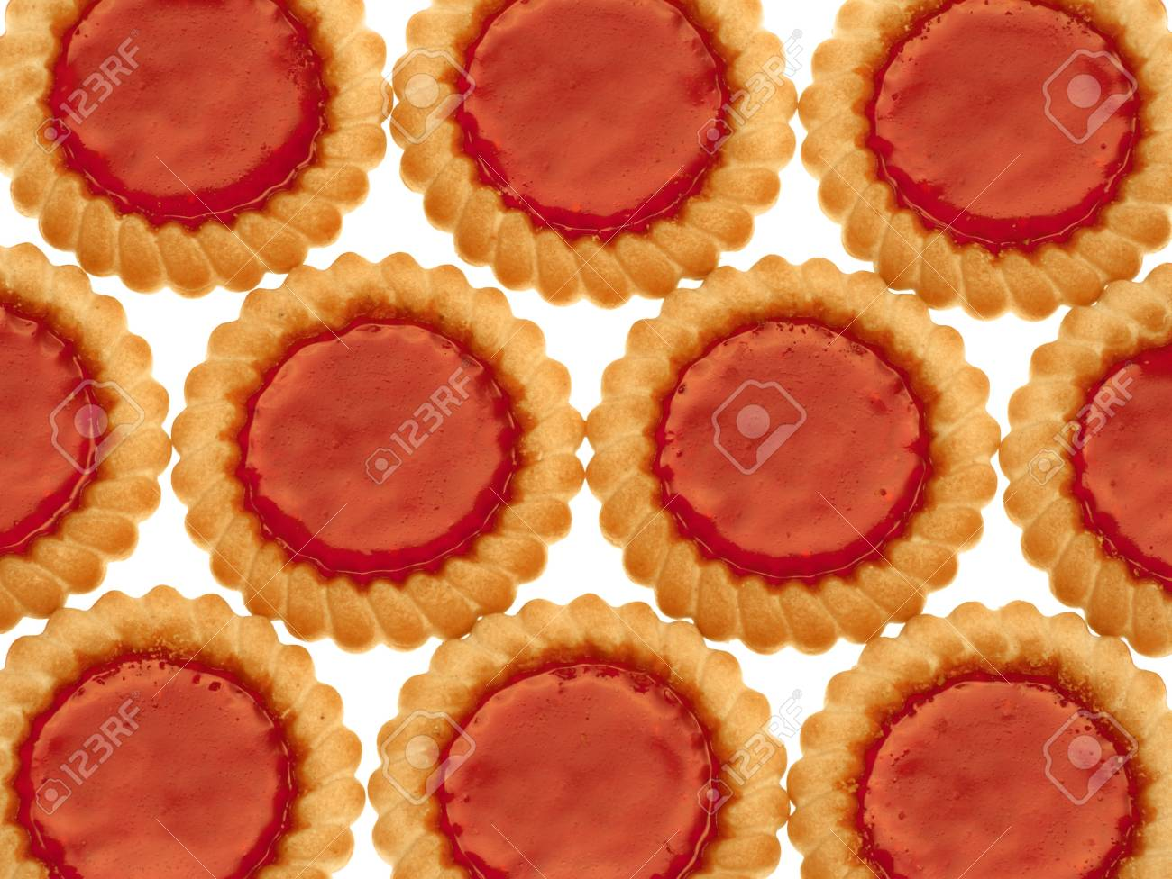 Crispy cookies with marmalade on a white background Stock Photo - 5080662