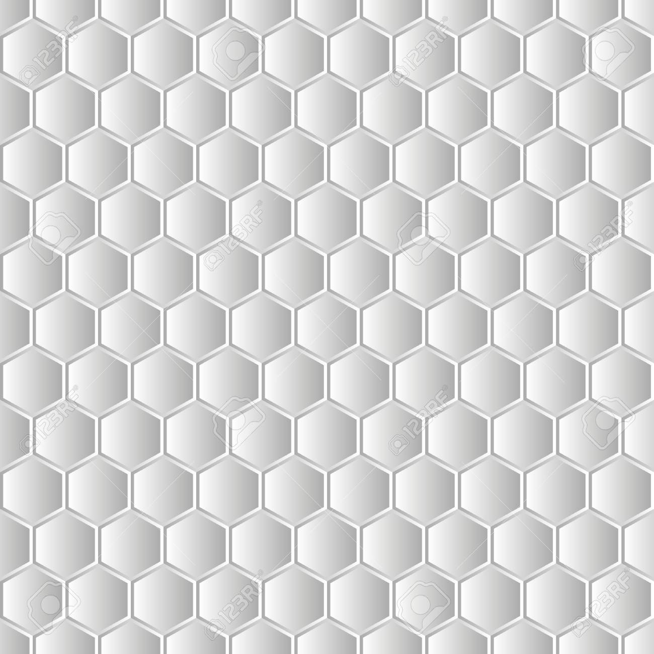Fondo Blanco Moderno. Textura 3D Sin Fisuras. Patrón De Hexágono ...