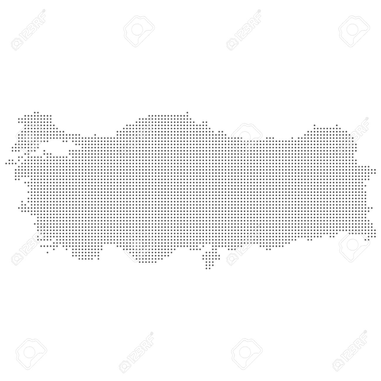 Dotted Abstract Turkey Map Vector Dot Map Royalty Free Cliparts