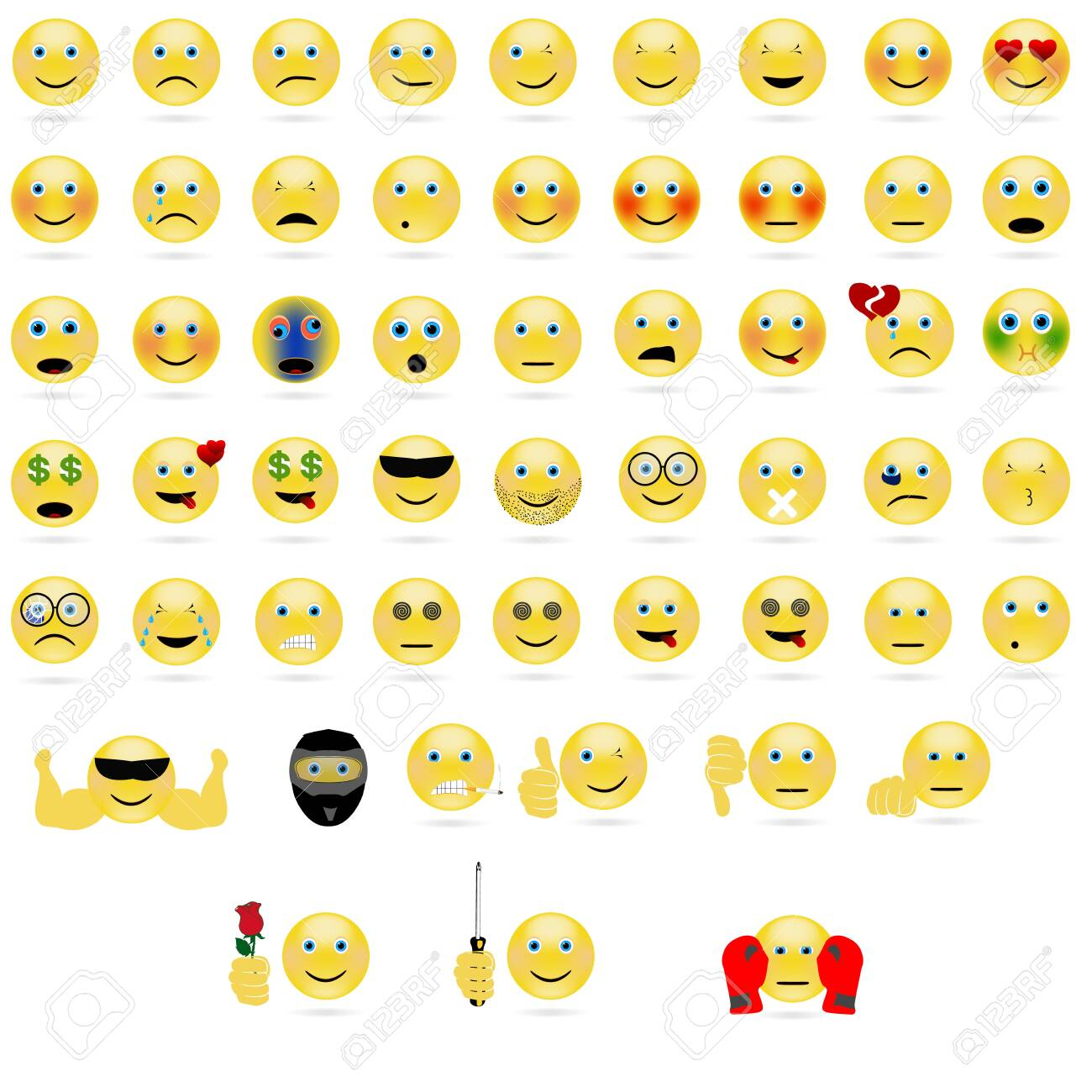 emotional face icons - 149902565