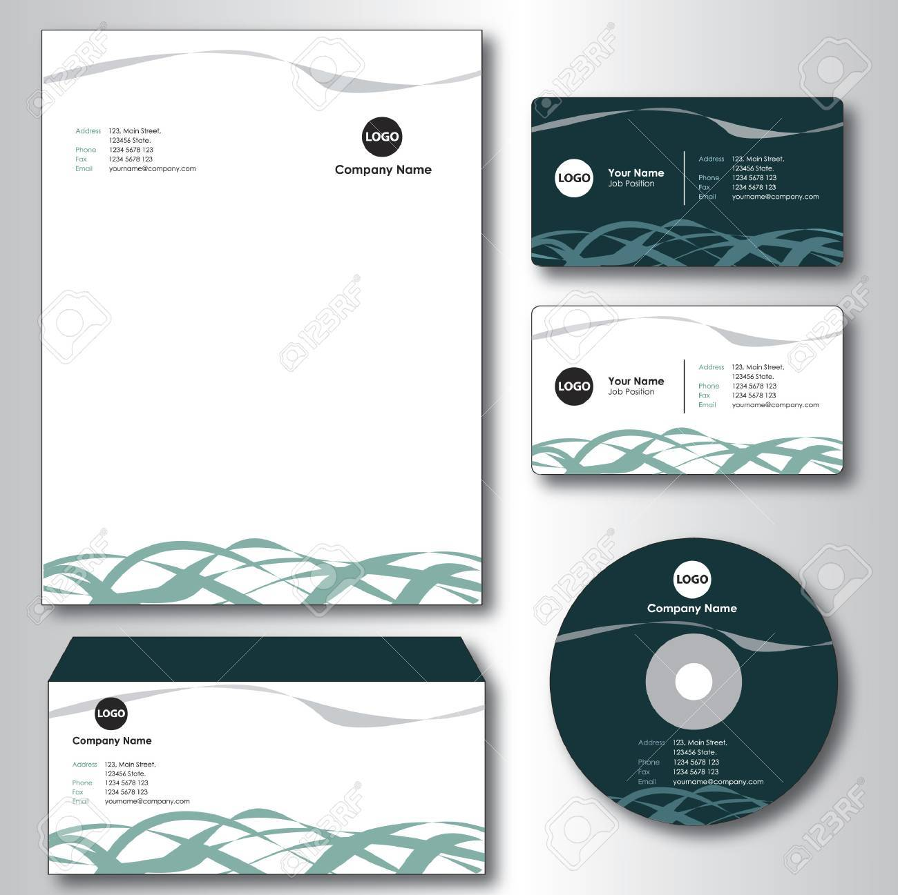Company paper envelope business card and cd royalty free cliparts company paper envelope business card and cd stock vector 31523678 reheart Image collections