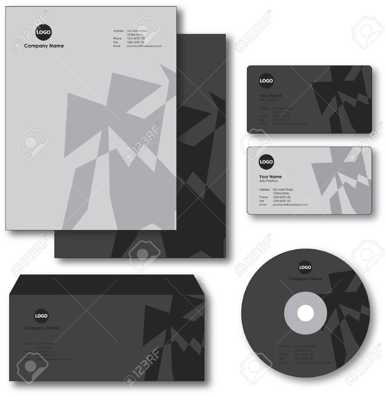 Societe Papier Enveloppe Carte De Visite Et CD Banque Dimages