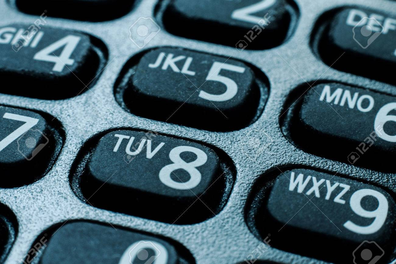 Cell Phone Dial Pad Close Up Stock Photo, Picture And Royalty Free ...