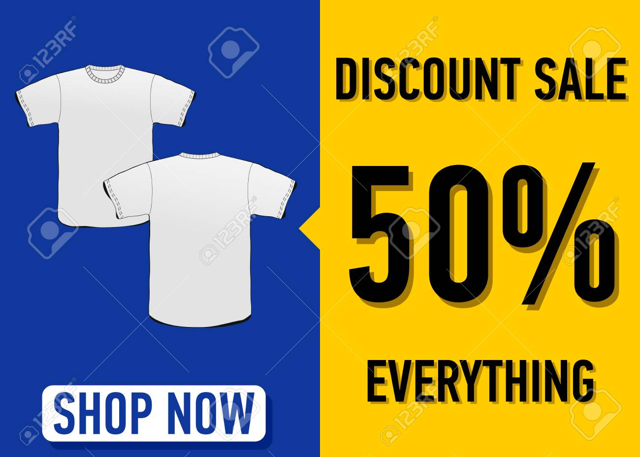 46fd0ac2c Fashion summer web banner. Sale banner design template with a white t-shirt  vector