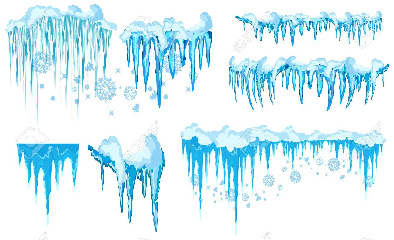 vector icicle and snow elements clipart different snow cap vector rh 123rf com Winter Clip Art Winter Clip Art