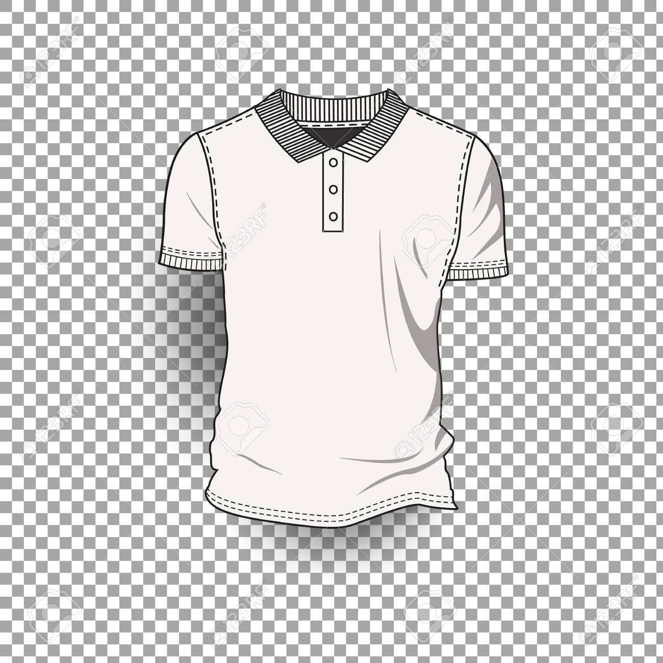 realistic t shirt template design on transparent background royalty