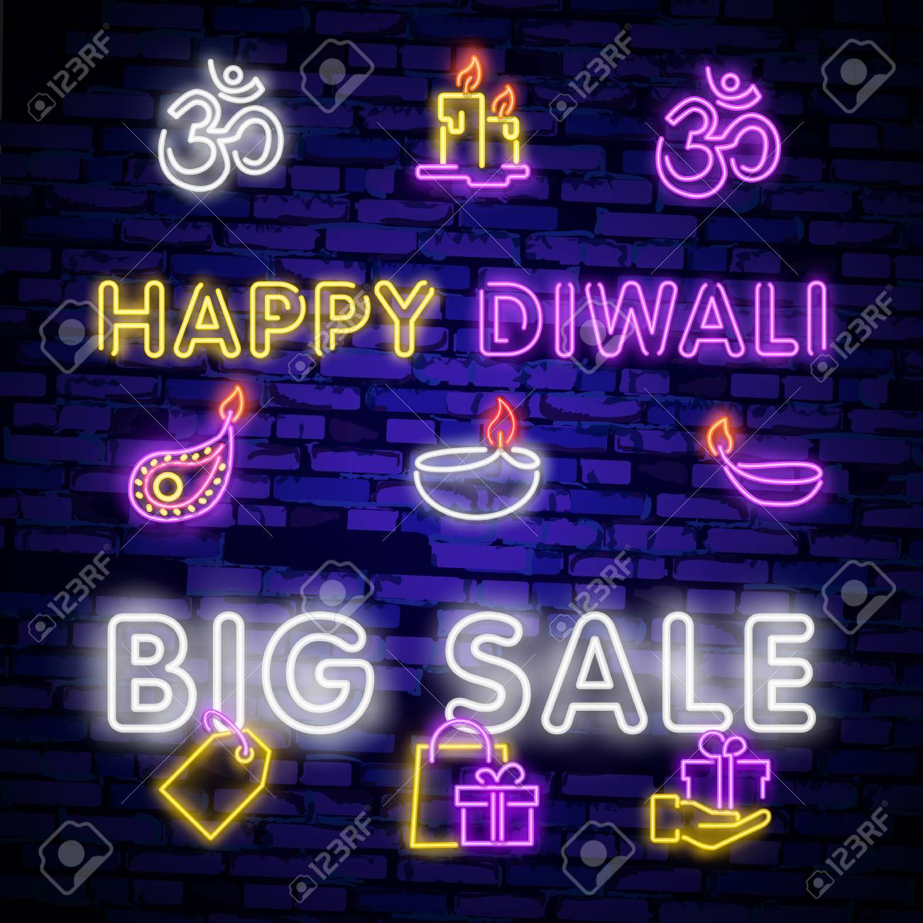 Neon Signs For Sale >> Big Collection Neon Signs For Diwali Festival Diwali Festival