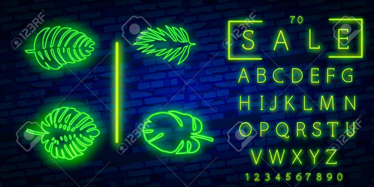 Vector Neon Tropical Exotic Leaves Realistic Jungle Leaves Set Royalty Free Cliparts Vectors And Stock Illustration Image 123980064 Download 81 tropical neon free vectors. vector neon tropical exotic leaves realistic jungle leaves set