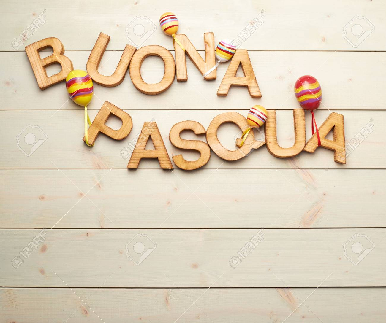 Words Buona Pasqua As Happy Easter In Italian Language Made Of