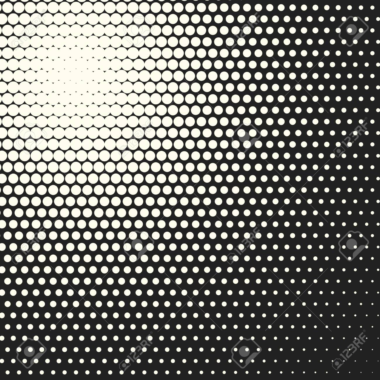 Halftone Dots Vector Black And White Circles Background Geometric Vintage Monochrome Fade Wallpaper