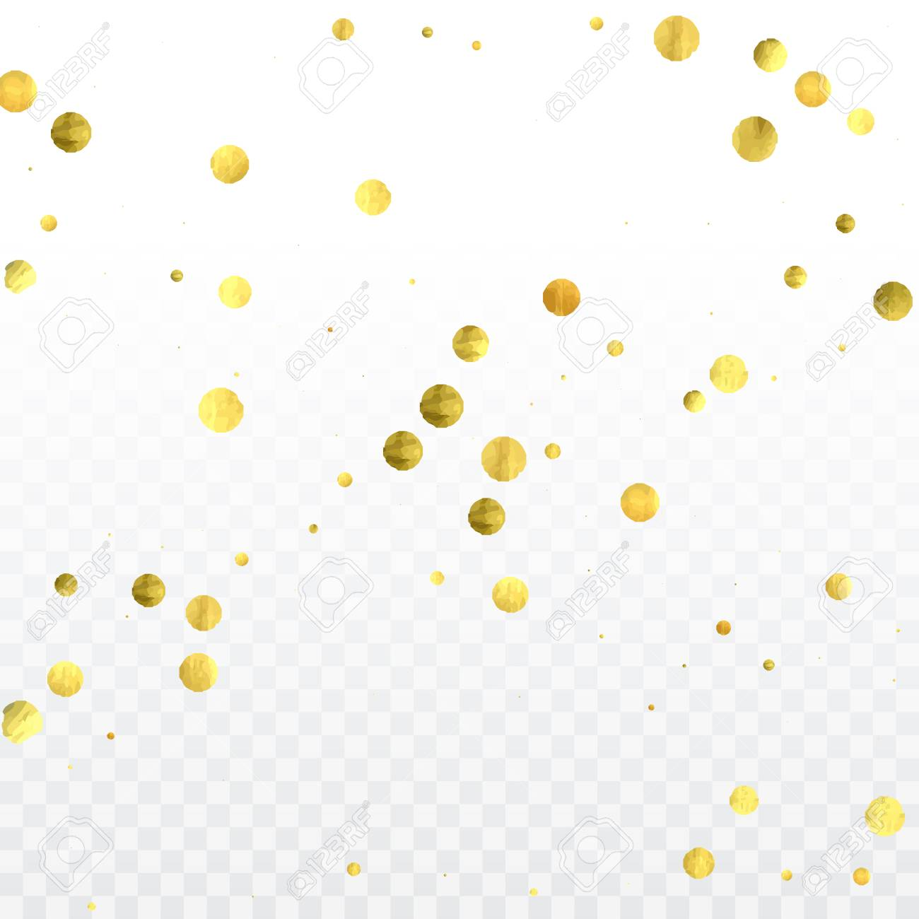 Gold Confetti Celebration Birthday Party Invitation Background
