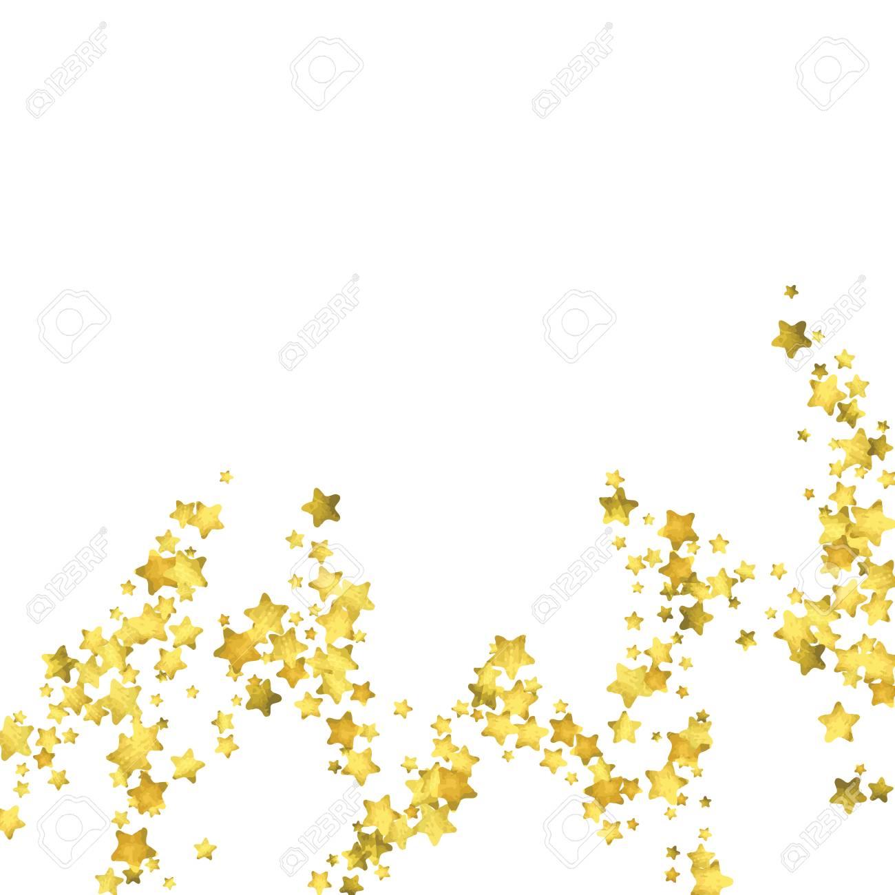 Star confetti gold random confetti background bright design star confetti gold random confetti background bright design template vector white and yellow stopboris Image collections