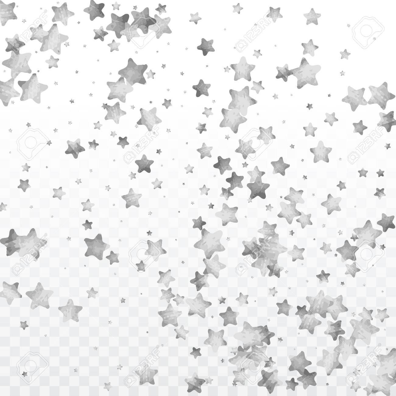 Silver Sparkles And Dots On Black Backdrop Cliparts Vector Va