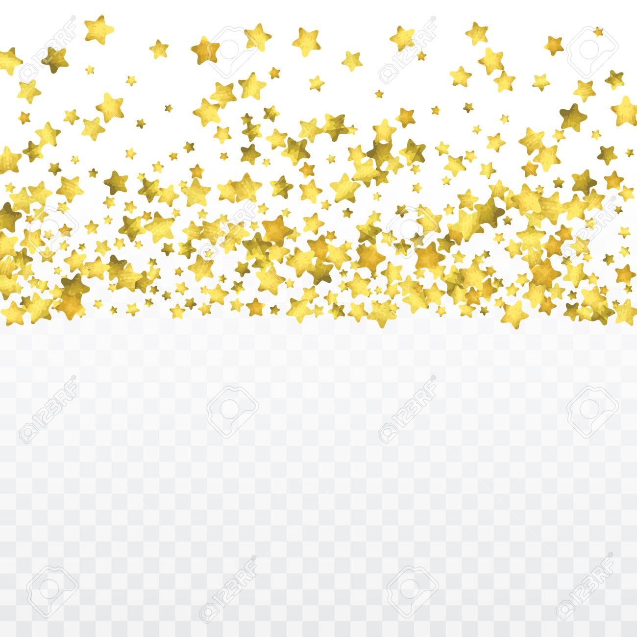 Round Gold Confetti Glow Vector Celebrate Background Golden