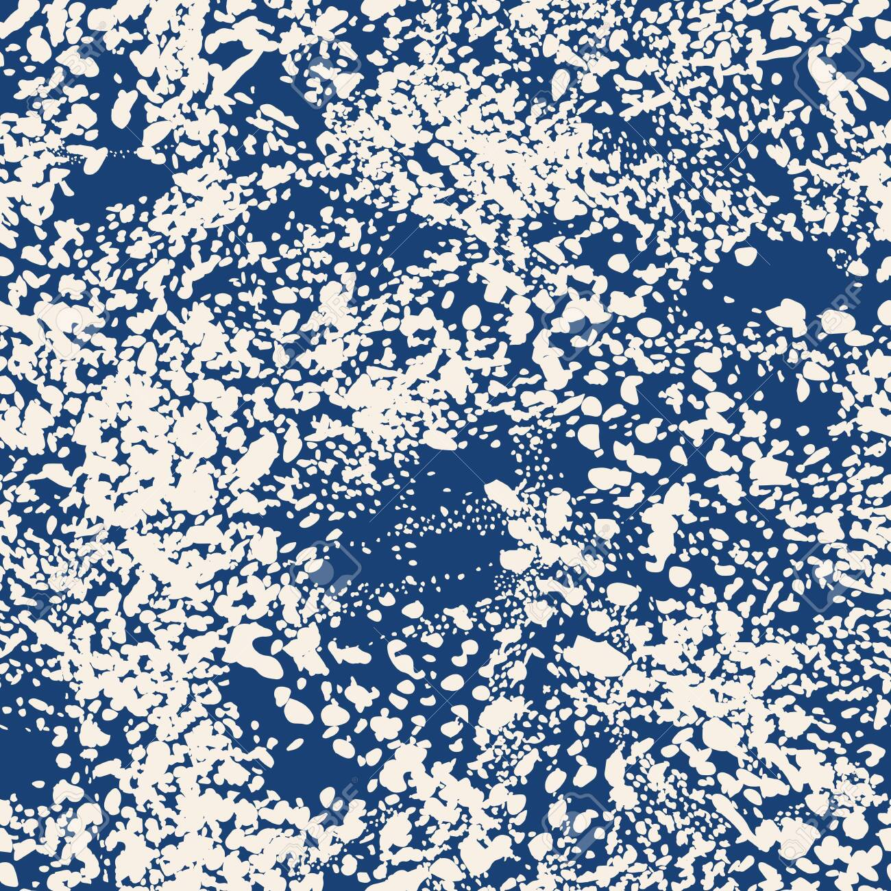 African Rapport Pattern. Leopard Skin Print. Animal Camouflage Background. Indigo and Beige Watercolor Camouflage Design. Spot Tile. Leopard Vector Seamless Pattern. Animal Abstract Texture. - 134572080