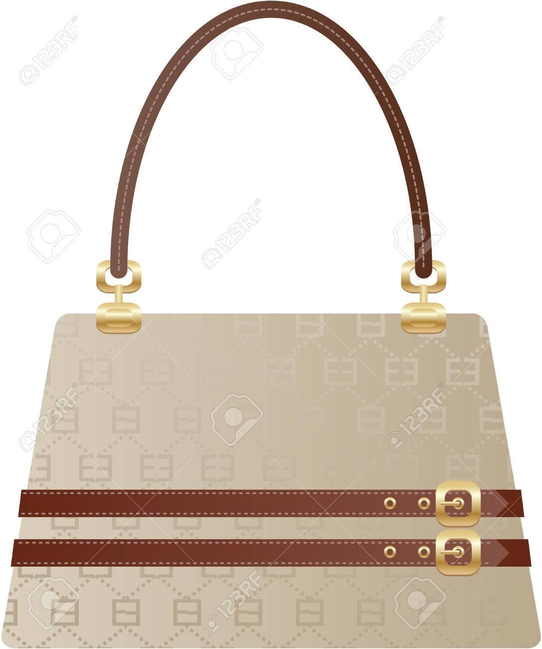 beautiful handbag  purse on the white back ground Stock Vector - 6264878