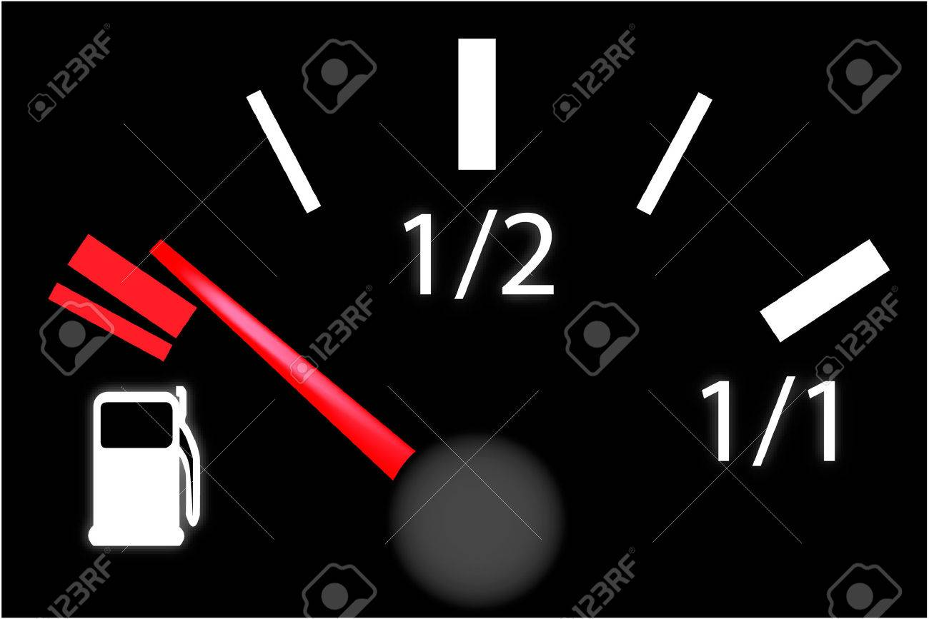 car dash board petrol meter, fuel gauge Stock Vector - 6295122