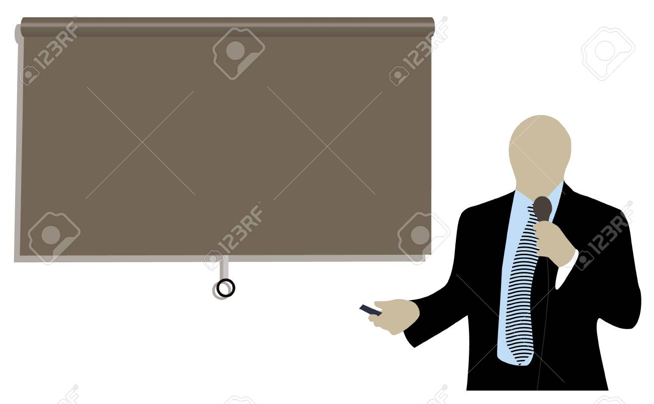 businessman doing a presentation at a conference Stock Vector - 7124717