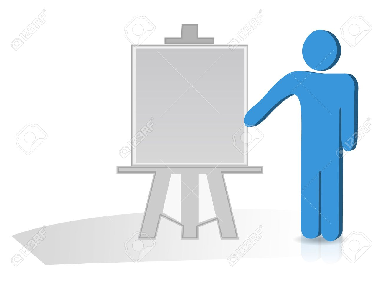 Man hand holding a pointing stick to an empty board Stock Vector - 7394873