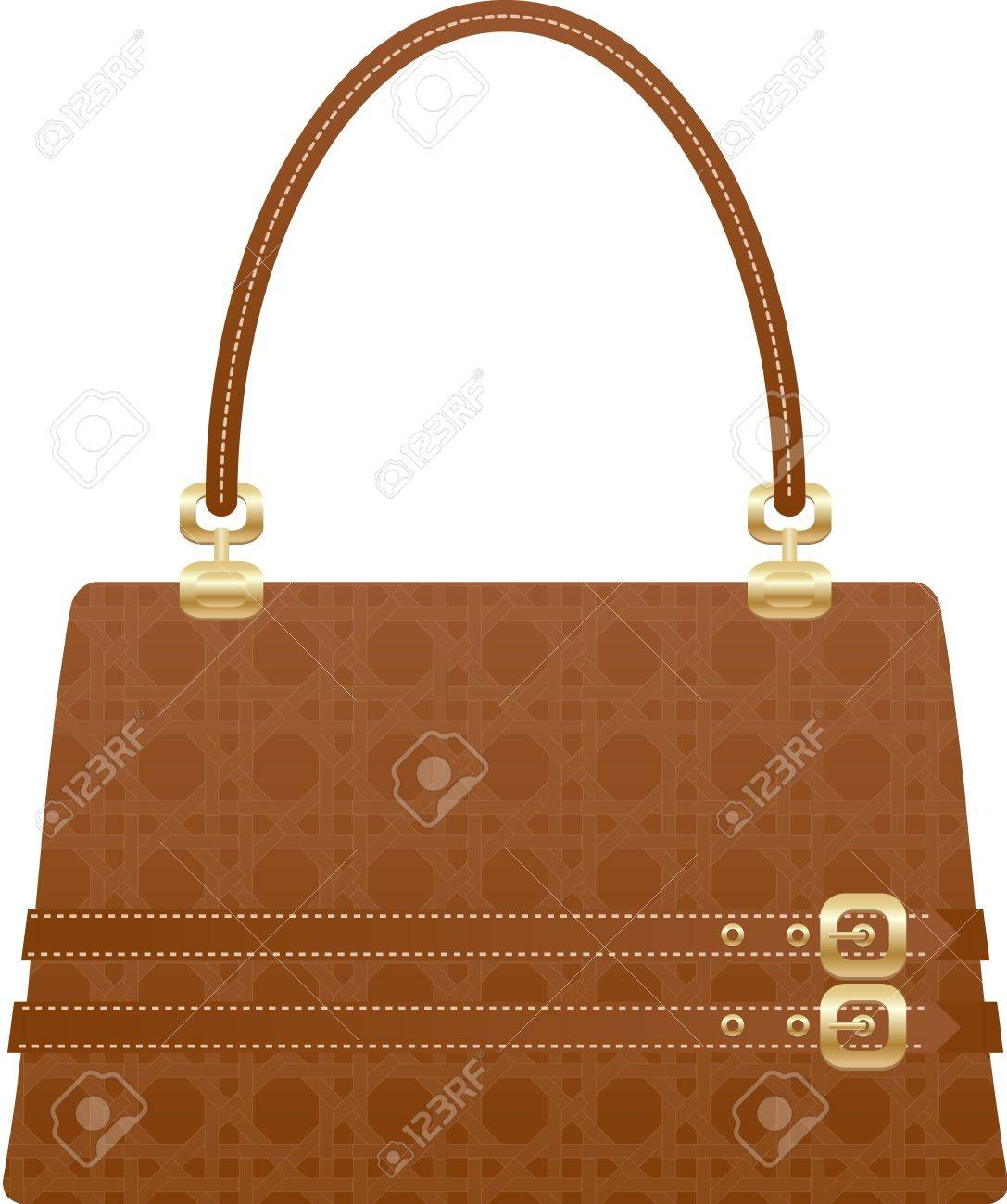 5f2137f6b6a4b Schöne Handtasche Tasche auf den weißen Hintergrund Standard-Bild - 7728405