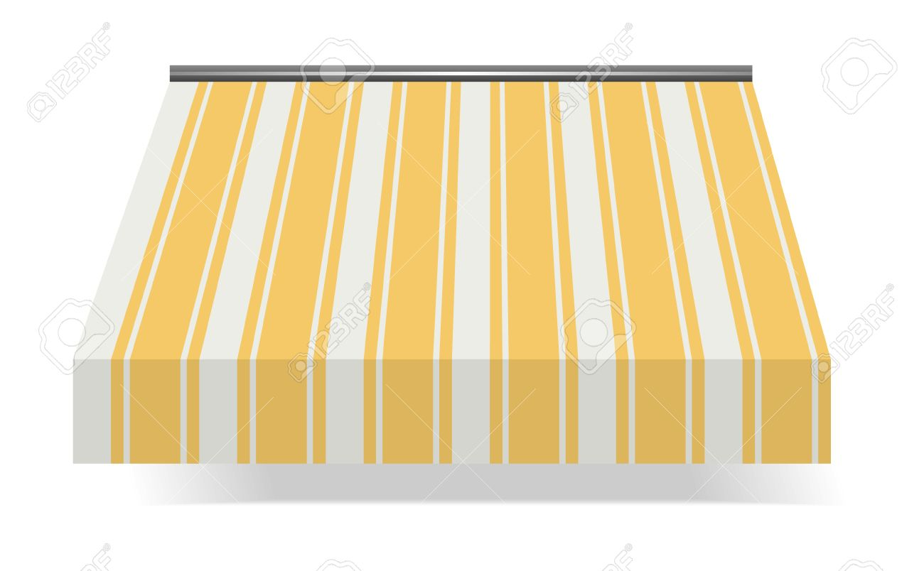 illustration of  Storefront Awning in Yellow Stock Vector - 7998027