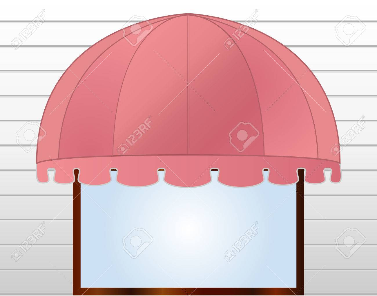 illustration of Storefront Awning in reddish pink Stock Vector - 7998031