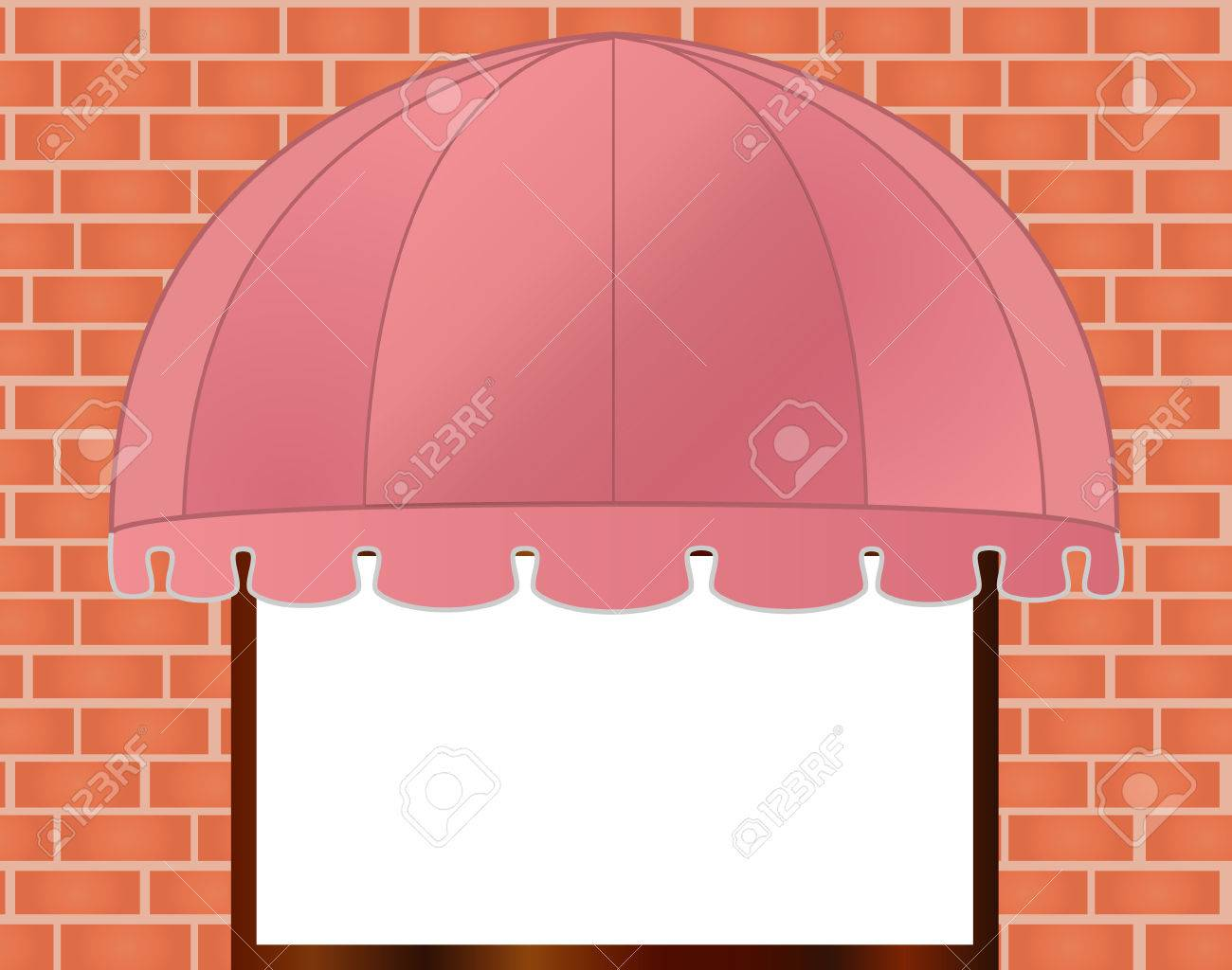 illustration of  Storefront Awning in reddish pink Stock Vector - 7998058