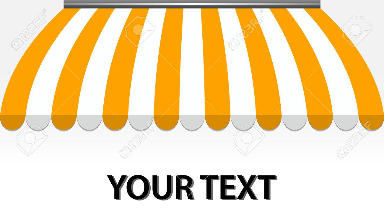 vector illustration of Storefront Awning in yellow Stock Vector - 8074128