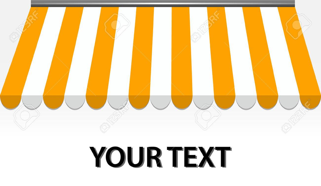 vector illustration of Storefront Awning in yellow Stock Vector - 8074138