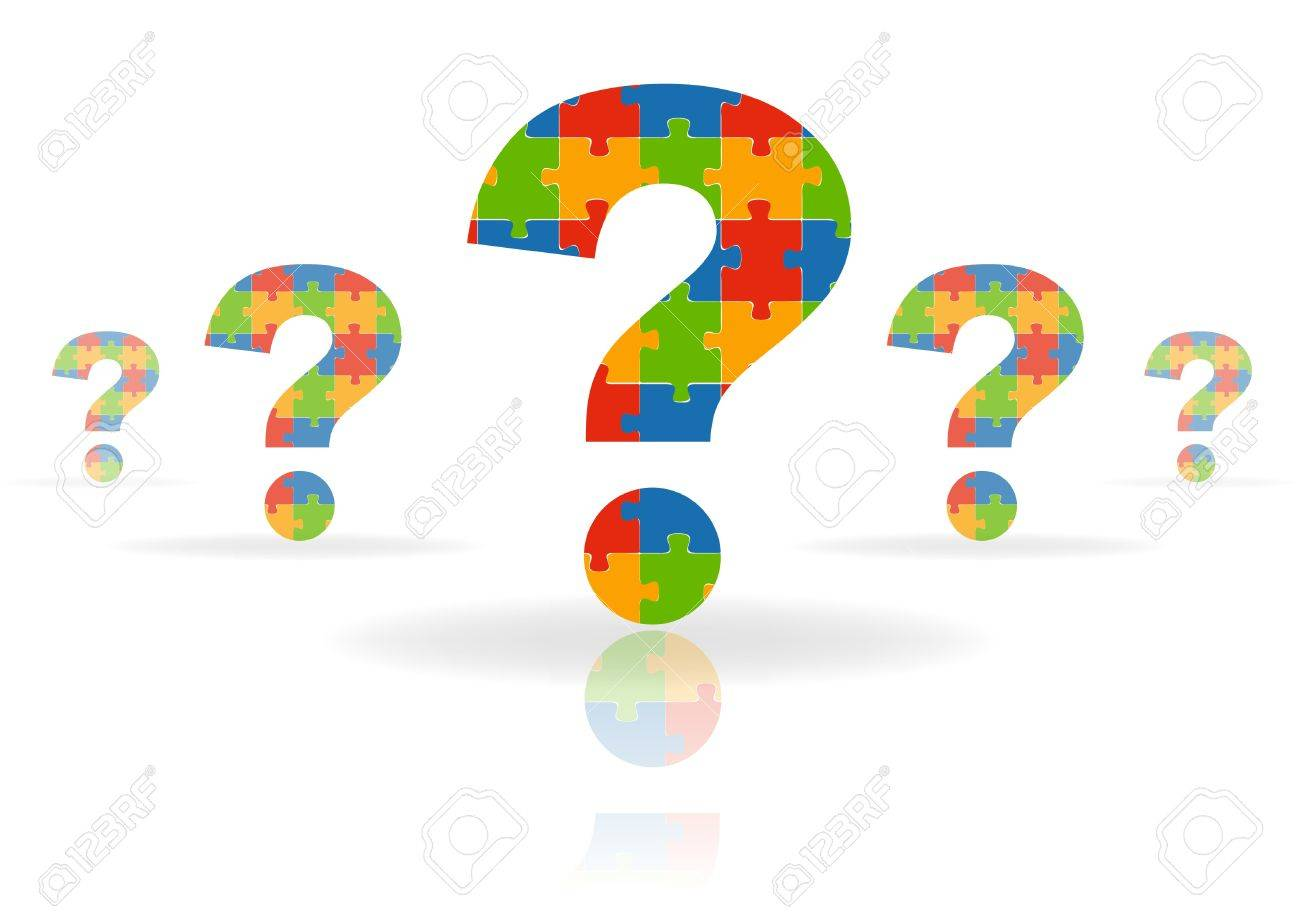illustration of  a question mark puzzle Stock Vector - 8544508