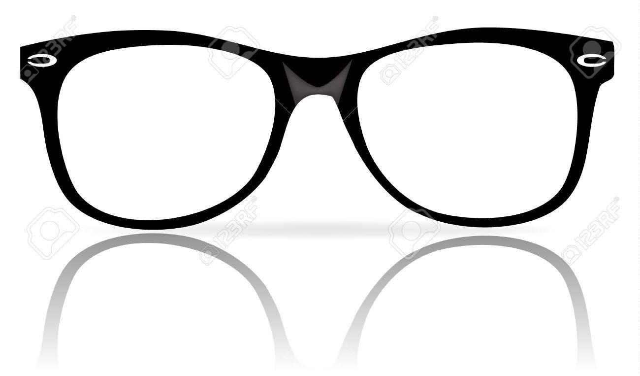 b188e41209 illustration of black glasses frames wiith shadow Stock Vector - 8594841